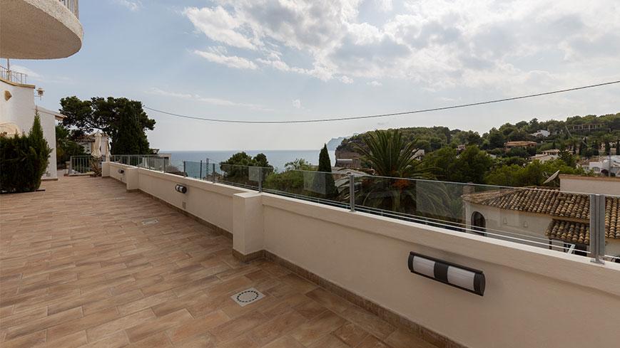 La vue depuis les appartements de vacances