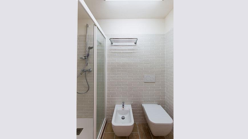 La salle de bain de l'appartement de vacances 1