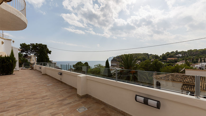 La vue depuis l'appartement 2 de la villa Condor